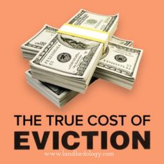 Few landlords know how much an eviction costs. It can be incredibly expensive, but easily avoided. The secret is to screen your tenants well. Cozy is free. Eviction Notice, True Cost, Investment Companies, Residential Real Estate, Best Investments, Real Estate Investing, Property Management, Being A Landlord