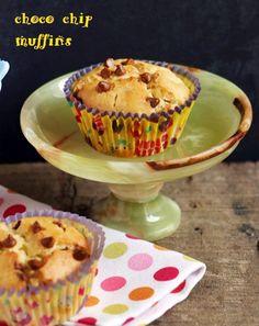 eggless chocolate chip muffins recipe
