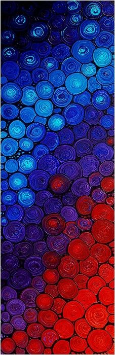 "chasingrainbowsforever: ""Blue, Purple and Red Abstract Watercolor """