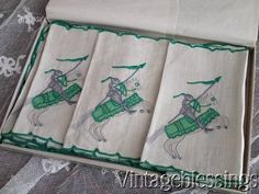 Great Gift! Vintage 12 Marghab Cocktail Napkins Medieval Knight & Horse Amazing www.Vintageblessings.com