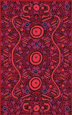 Australian textile from Aboriginal design