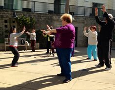 #SFPMPT staff leading a Tai Chi class in the community!  #health #taichi #sanfrancisco #sf #bayarea #community #class #exercise #relaxation