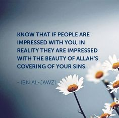Allah covers your sins