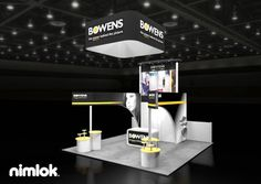 Nimlok builds and designs trade show booths and photography exhibits. For Bowens, we built a custom 20x20' trade show booth solution to showcase the brand.