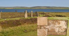 Ring of Brodgar, a Neolithic stone circle and henge monument, with the Loch of…