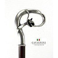 Cavagnini decorative pewter walking stick hand made in Italy