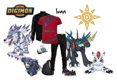 """Ivan Digimon Travel!!"" by fany-812 ❤ liked on Polyvore featuring moda, SELECTED, VIPARO, Armani Jeans e NIKE"