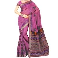 Flat 15% off on Pink Embroidered Cotton Sari - Printed Saree - Woven Ethnic Zari Borders. Buy now @ orangecheese.com. Free shipping in India. COD available. We deliver worldwide.