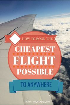 to Book the Cheapest Flight Possible to Anywhere Learn the hacks, tips, and tricks to help you book the cheapest flight possible! Learn the hacks, tips, and tricks to help you book the cheapest flight possible! Travel Info, Cheap Travel, Travel Advice, Budget Travel, Time Travel, Places To Travel, Travel Tips, Travel Destinations, Places To Go