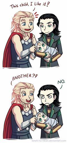 Thor and loki . Hahaha thorki
