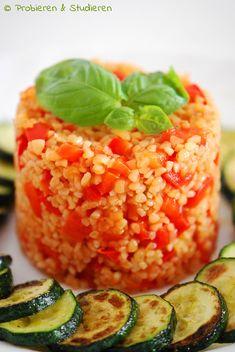 Probieren und Studieren: Paprika-Bulgur mit Zucchini {Ein bisschen Sommer auf dem Teller}