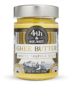 The White Truffle is of the highest quality and is then ground with pure sea salt to form a white truffle sea salt that is whipped into Fourth & Heart ghee.