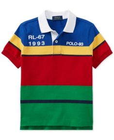 78bf7c3f852cf Polo Ralph Lauren Toddler Boys CP-93 Striped Cotton Jersey Polo Shirt    Reviews - Shirts   Tees - Kids - Macy s
