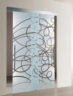 Classy Looking Frosted Glass Sliding Doors For Home Interiors