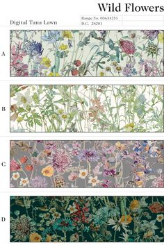 "Liberty London has designed patterns for their Liberty Art Fabrics Autumn/Winter 2014 collection based on Su Blackwell's book art ""Wild Flowers of The British Isles"" four different colour-ways on tana lawn cotton and cotton fleece. image via sublackwell.co.uk/blog/"