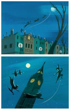 Mary Blair concept work for Peter Pan Mary Blair, Retro Disney, Old Disney, Vintage Disney, Disney Illustration, Digital Illustration, Disney Artists, Disney Kunst, Disney Concept Art