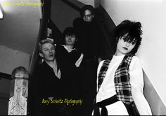 Siouxsie Sioux, Steven Severin, John McKay, and Kenny Morris in Amsterdam 1979. The original SATB line-up.