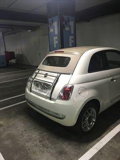 Fiat 500 con portavalijas en Santiago de Chile. @fiat500 #fiat Fiat Cinquecento, Fiat 500c, Fiat Abarth, Fiat 500 Cabrio, Fiat 500 Pop, Fiat Cars, Instagram Story Ideas, Alfa Romeo, Scooters