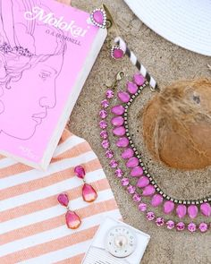 Current mood: all things pink.  #lorenhope #sylvianecklace #kayleenecklace #sunsetearrings #thinkpink by lorenhope