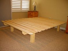 pallet bed frame, paint it white n its done!