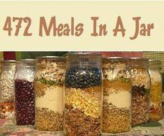 472 Delicious Meals In A Jar http://healthandnaturalliving.com/472-delicious-meals-jar/