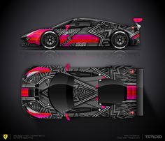 Wrap design concept  Art car for Ferrari F488 GT3 for sale