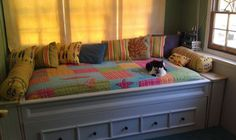day bed and trundle, painted furniture, repurposing upcycling, woodworking projects, Day bed with Trundle Bedding Master Bedroom, Bedroom Loft, Kids Bedroom, Homemade Furniture, Diy Furniture, Painted Furniture, Farmhouse Bedding Sets, Diy Daybed, Simple Bed