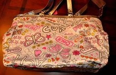 COACH Bandana Graffiti Diaper Bag/ Lap Top Tote. Use to have this too!