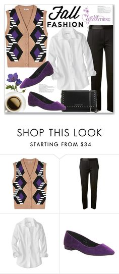 """""""Sweater Vest"""" by queenvirgo ❤ liked on Polyvore featuring Miu Miu, Victoria Beckham, Office and Givenchy"""
