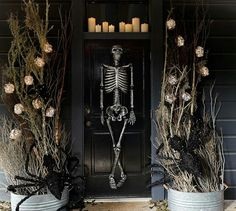 Our life-size skeleton looks delightfully frightening displayed on the front porch or lounging in the entryway. He also makes a great addition to a Halloween get-together. Halloween Inspo, Halloween Photos, Fall Halloween, Halloween Party, Pottery Barn Halloween, Mr Bones, Witch Decor, Diy Halloween Decorations, Candle Sconces