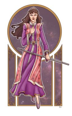 Gorgeous drawing of Delenn. Look at the detail of the fabric on her clothes, in particular! By aliceazzo on deviantART.