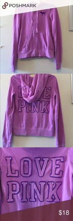 Victoria's Secret PINK zip up Bright light purple Victoria's Secret pink zip up PINK Victoria's Secret Jackets & Coats