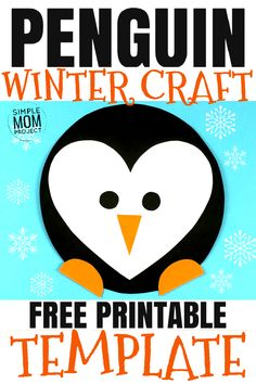 Christmas Crafts for Kids See this post for a FREE printable template to make your own winter Penguin! This simple DIY penguin winter is an easy craft for toddlers, big kids and adults to make. Great for classroom winter crafts and art projects. Winter Crafts For Kids, Winter Kids, Easy Toddler Crafts, Easy Crafts, Kids Crafts, Penguin Craft, Valentine's Day Diy, Valentines Diy, Craft Fairs