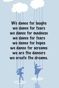 We are the dancers