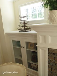 fireplace cabinet and trim
