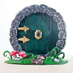Creator's Joy: Unique gift for Tolkien and LOTR fans: a DIY free polymer clay Hobbit door tutorial