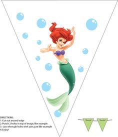 Little Mermaid, Little Mermaid, Party Decorations - Free Printable Ideas from Family Shoppingbag.com