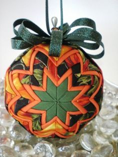 new halloween fabric quilted ornament by delightfullyornament 2000 quilted fabric ornaments pinterest quilted ornaments halloween fabric and - Halloween Christmas Ornaments