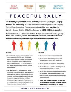 Langley parents plans 'peaceful' rally at Tuesday's school board meeting - Langley Advance
