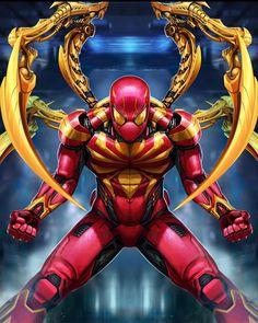 Iron Spider by Sadece Kaan on Artstation X Men Comics, Heros Comics, Marvel Comics Art, Bd Comics, Marvel Heroes, Marvel Avengers, Spiderman Art, Amazing Spiderman, Comic Book Characters