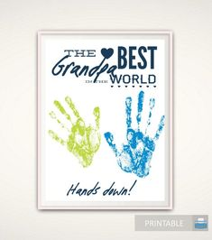 Grandpa Gifts - Christmas Grandpa Gift from Grandkids PRINTABLE Handprint Art Gift for Grandpa DIY Handprint Art Grandad Birthday Gift by FromTheRookery Nana Gifts, Daddy Gifts, Grandpa Gifts, Gifts For Dad, Auntie Gifts, Godparent Gifts, Personalized Fathers Day Gifts, Godchild, Father's Day Printable