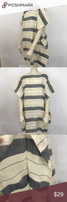 "Urban Outfitters Remade Turkish Towel Dress Urban Outfitters Urban Renewal Remade Turkish Towel Dress  Navy Cream Armpit to Armpit-26"" Length- 35.5"" not including fringe Urban Outfitters Dresses"