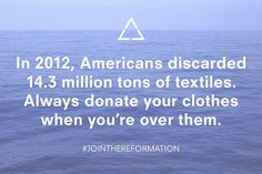 Reformation's Crazy Eco Facts via @WhoWhatWear