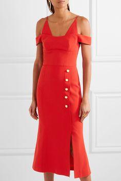 Rebecca Vallance | Beltrán cold-shoulder stretch-crepe midi dress | NET-A-PORTER.COM