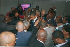 Praying for Obama, Laying On of Hands