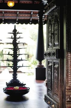 Entry way traditional south indian home pinned by the tiger's armoire luxury goods for adorning home