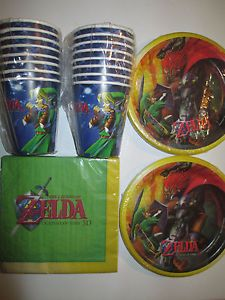 THE LEGEND OF ZELDA - Birthday Party Supplies Set Pack w/ Plates,Napkins & Cups