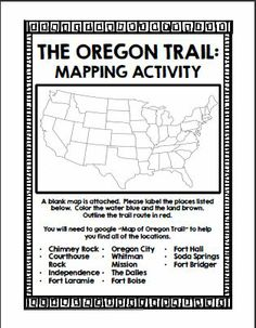 Oregon Trail Mapping Activity