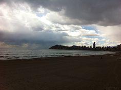 Benidorm - playa de Poniente -1-3-2016