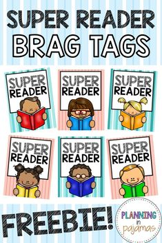 FREE Super Reader Brag Tags #classroommanagement #studentincentives #teacherfreebie